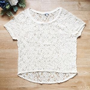 Express Lace Cream/White Over Shirt